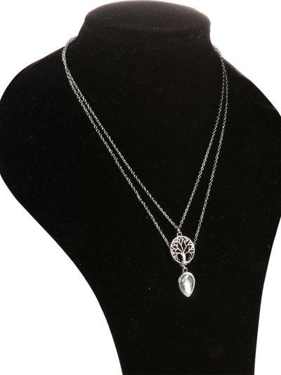 Silver Casual Alloy Necklaces