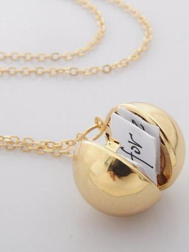 Secret Information Ball Locket Necklace