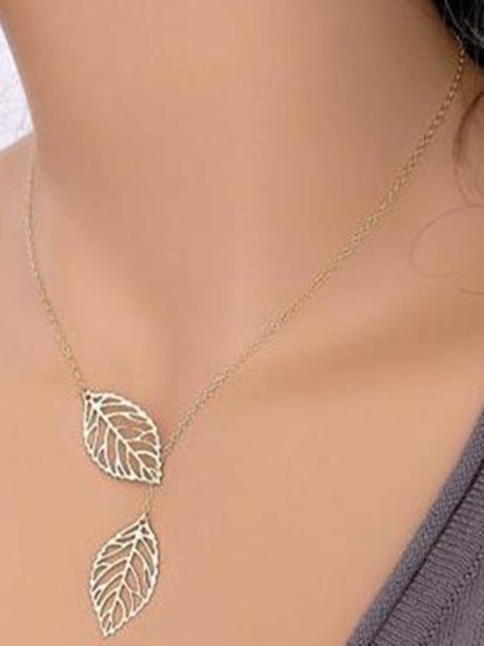 Alloy Necklaces Elegant Leaves Necklaces