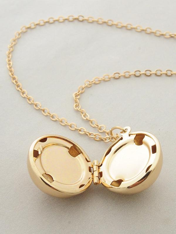 Secret Information Ball Locket Necklace