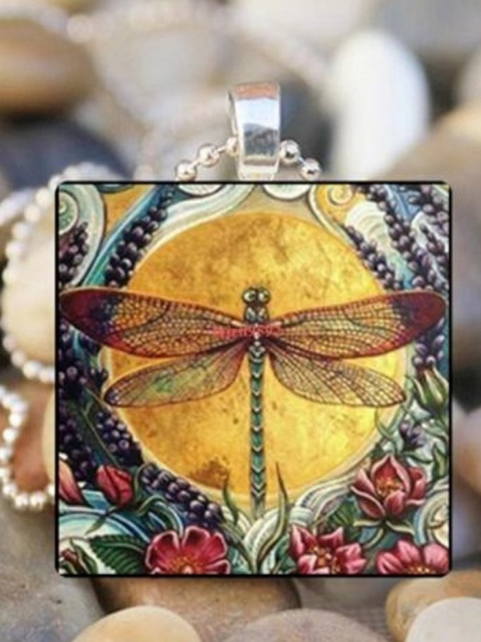 Vintage square shape Women Necklaces