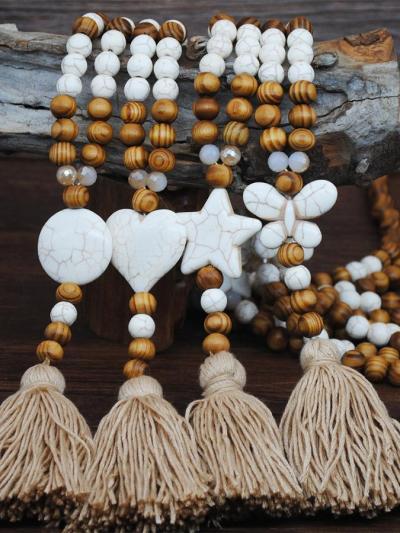 Bohemian clothing pendant tassel sweater necklace