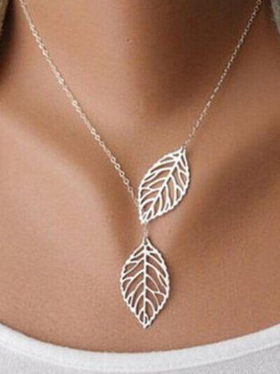 Alloy Necklaces Elegant Leaves Necklaces