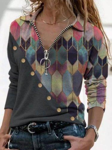 Vintage Zipper Special Long Sleeve Sweatshirts