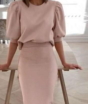 Fashion Pure Round neck Half T shirt&Dress Suits
