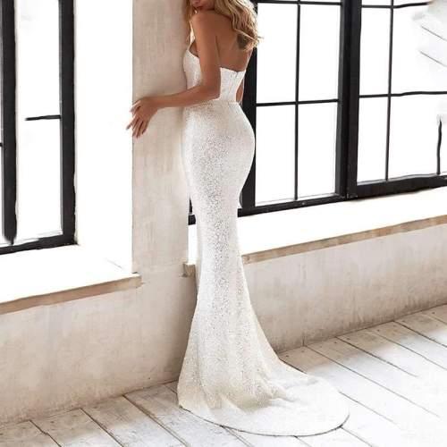 Pure Sexy Sequin Sleeveless Evening Dresses
