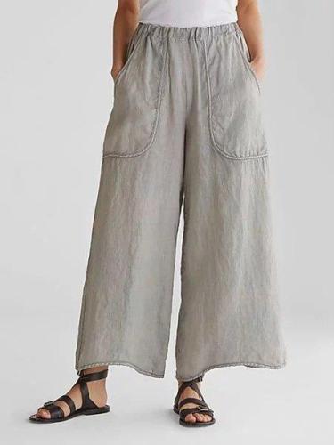 Casual Plain Loose Pants