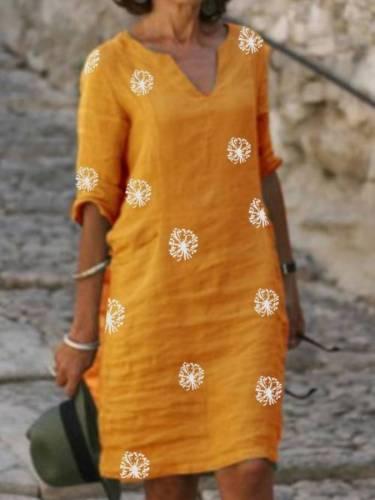 Half Sleeve Shift Vintage Dresses
