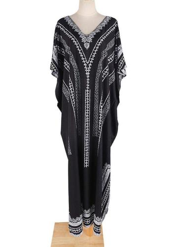 Black Loose And Quick-Drying Beach Dress