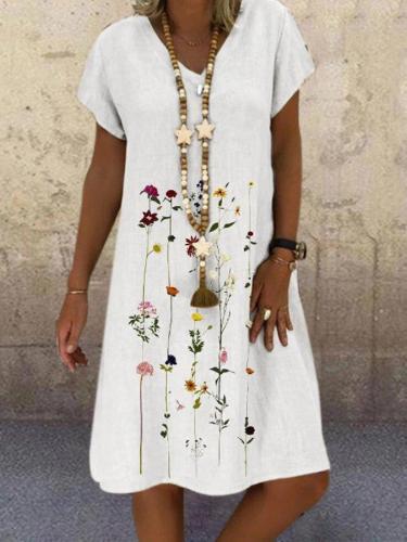 Printed Holiday Short Sleeve Dresses