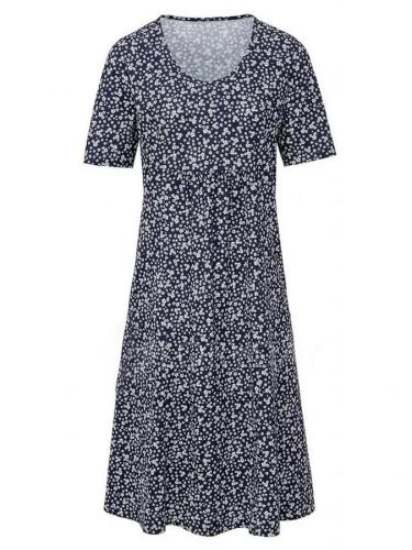 Casual Pockets Round Neck Floral Dresses