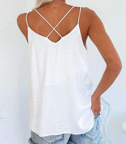 Pure Sexy V neck Inlay Vests