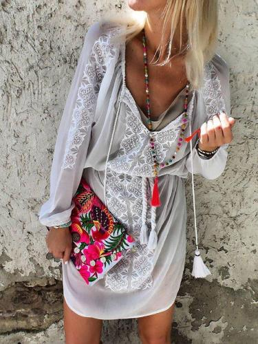 Casual loose holiday lace dress