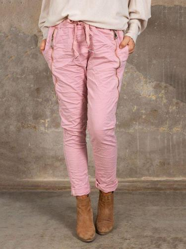 Women's Solid Color Casual Pants