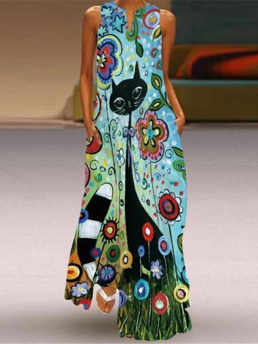 Women's Casual Print Dress