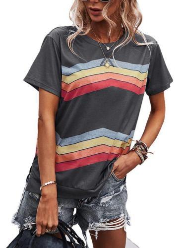 Summer short sleeve top flower T-shirts