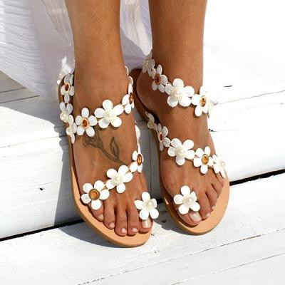 Women Flower Sandals Casual Slip On High Quality Shoes Women sandals