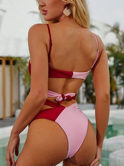Sexy bikini women halter two pieces bikini for beach