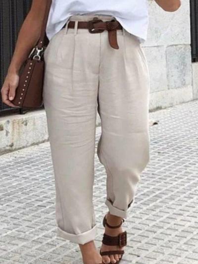 Casual pants loose plain women long pants