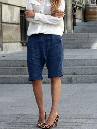 Women's large size loose cotton pants