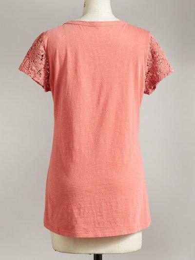 Short Sleeve Plain Crew Neck Shirts & Tops