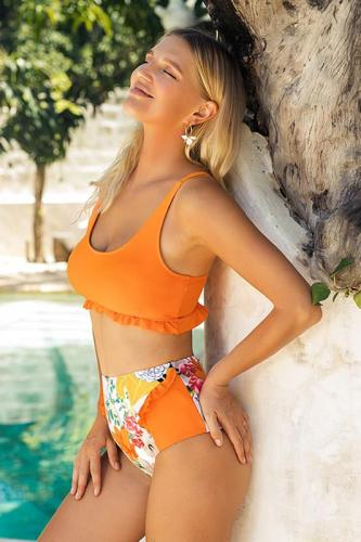 Orange Summer Bikini Set