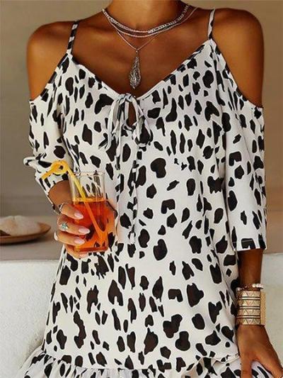 Casual holiday print dress