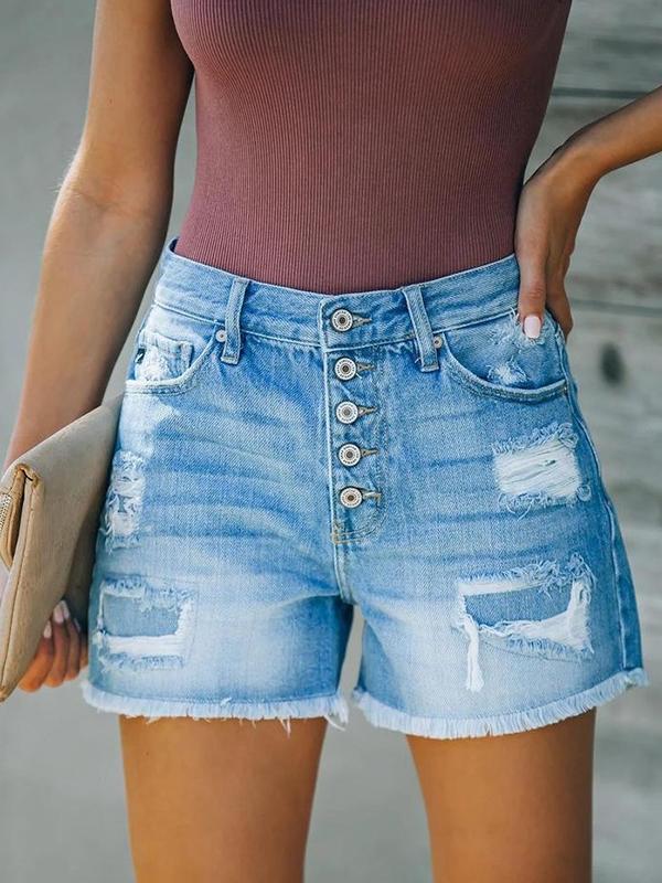 Blue butter design blue denim shorts short pants