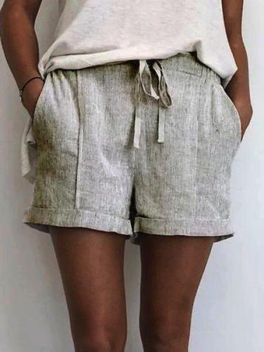 Summer Shorts Drawstring Pockets Casual Shorts