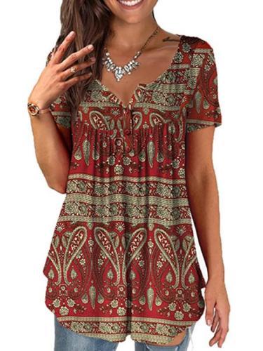 Women round neck artist short sleeve T-shirts