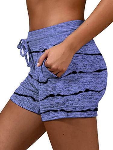 Women printed sports casual short pants summer shorts
