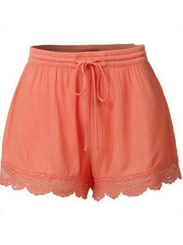 Women daily plain shorts
