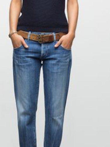 Denim Fashion Patchwork long pants jeans