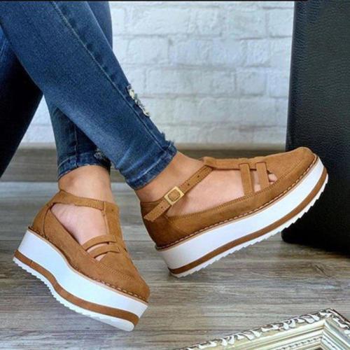 Women plain fashion  Hollow out Sneakers