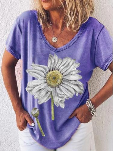 Short Sleeve Floral-Print Shirts & Tops