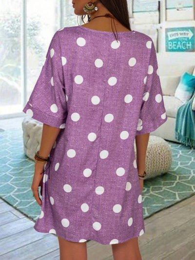 Polka Dots Shift Tunic Dresses