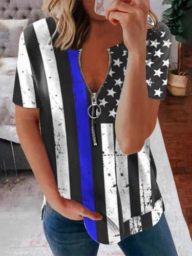 Short Sleeve V Neck Shift Shirts & Tops