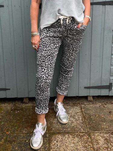 Leopard Sheath Leopard Print Casual Pants