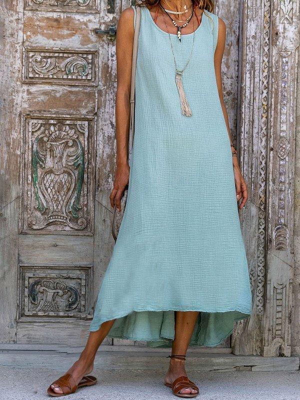 Lightgreen Casual Spaghetti Paneled Plain Dresses