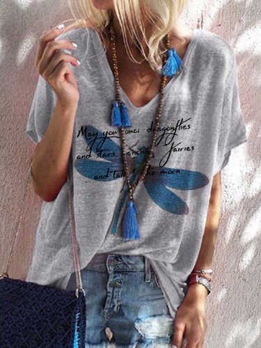Gray Casual Printed Patchwork Cotton Shirts & Tops