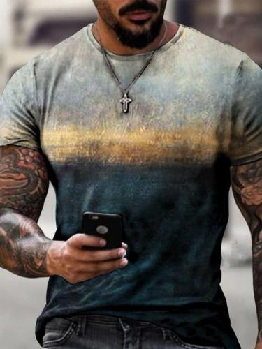 Men's gradient print T-shirt