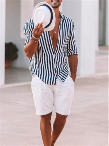 Shirt Collar Cotton And Linen Shirts & Tops