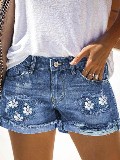 Summer women daily short pants with pockets