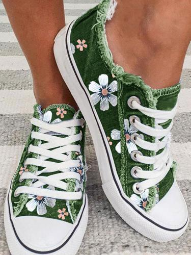 Women Fashion Floral casual shoes flats