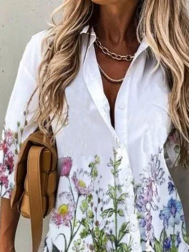 Cotton Shirt Collar Shirts & Tops