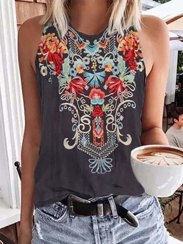 Plus size Sleeveless Boho Shirts & Tops