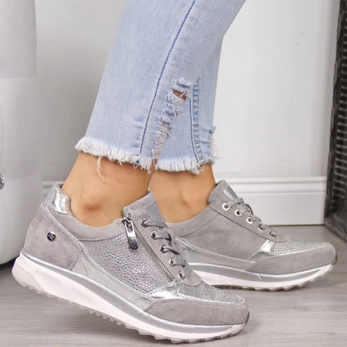 Legant Orthopedic Comfortable Shoes Round Toe Soft Sole Sneakers