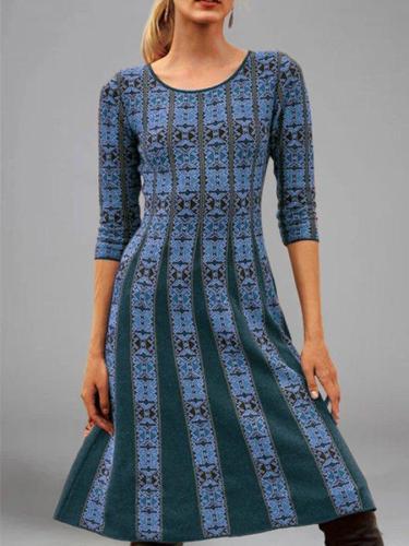 Women Casual Printed A-Line Dresses mini dresses for women