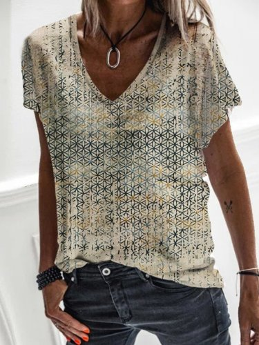 Tribal Short Sleeve Cotton-Blend Casual Shirts & Tops