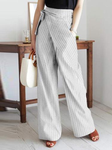 Elegant Women stripe long pants